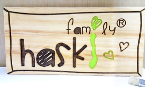 Олекотен вариант на табелата - поръчител Haski Family