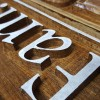 Wood Sign Van Den Hoogenband 03 Detail